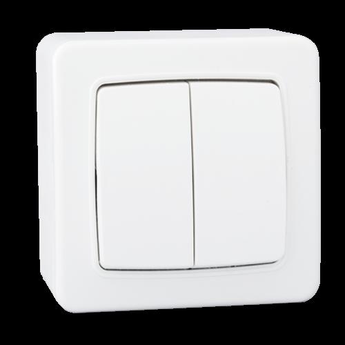 Stiel appareillage apparent Gamme Elyssa interrupteur double allumage Blanc