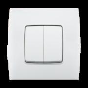 Stiel-appareillage-encastre-Gamme-phenicia-interrupteur-double-allumage-Blanc