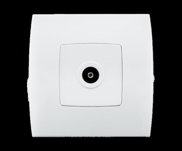 Stiel-appareillage-encastre-Gamme-phenicia-interrupteur-prise-tv-Blanc