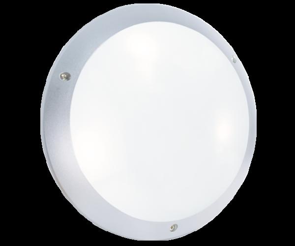 Hublot polycarbonate gris metallise LED E27 STIEL