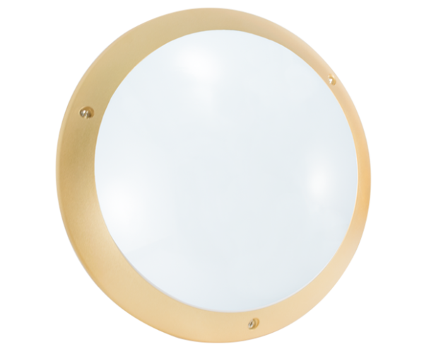 Hublot polycarbonate dore LED E27 STIEL