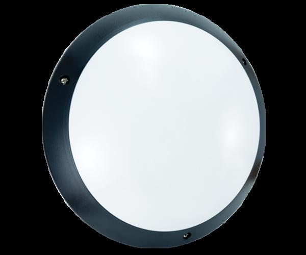 Hublot polycarbonate noir LED E27 STIEL
